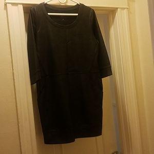 Faux lether mini dress